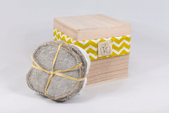 BAMBINO BOX CHEVRON MOUTARDE