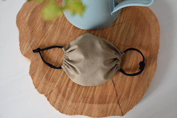 Masque tissu enfant taupe uni