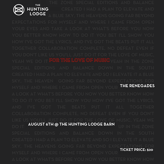 For The Love of Music Tickets
