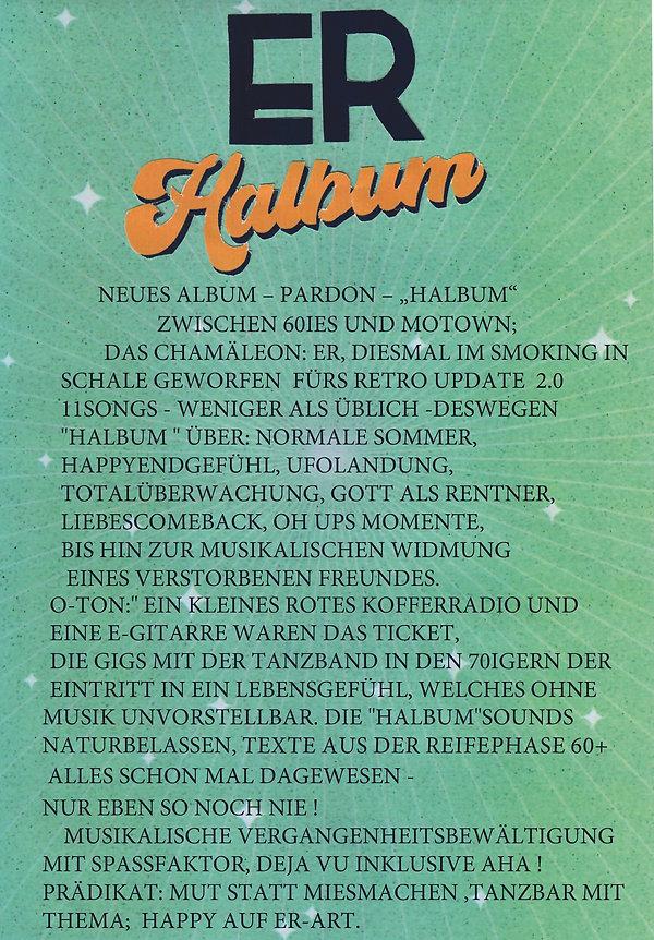 HALBUM Promo Info Blatt I