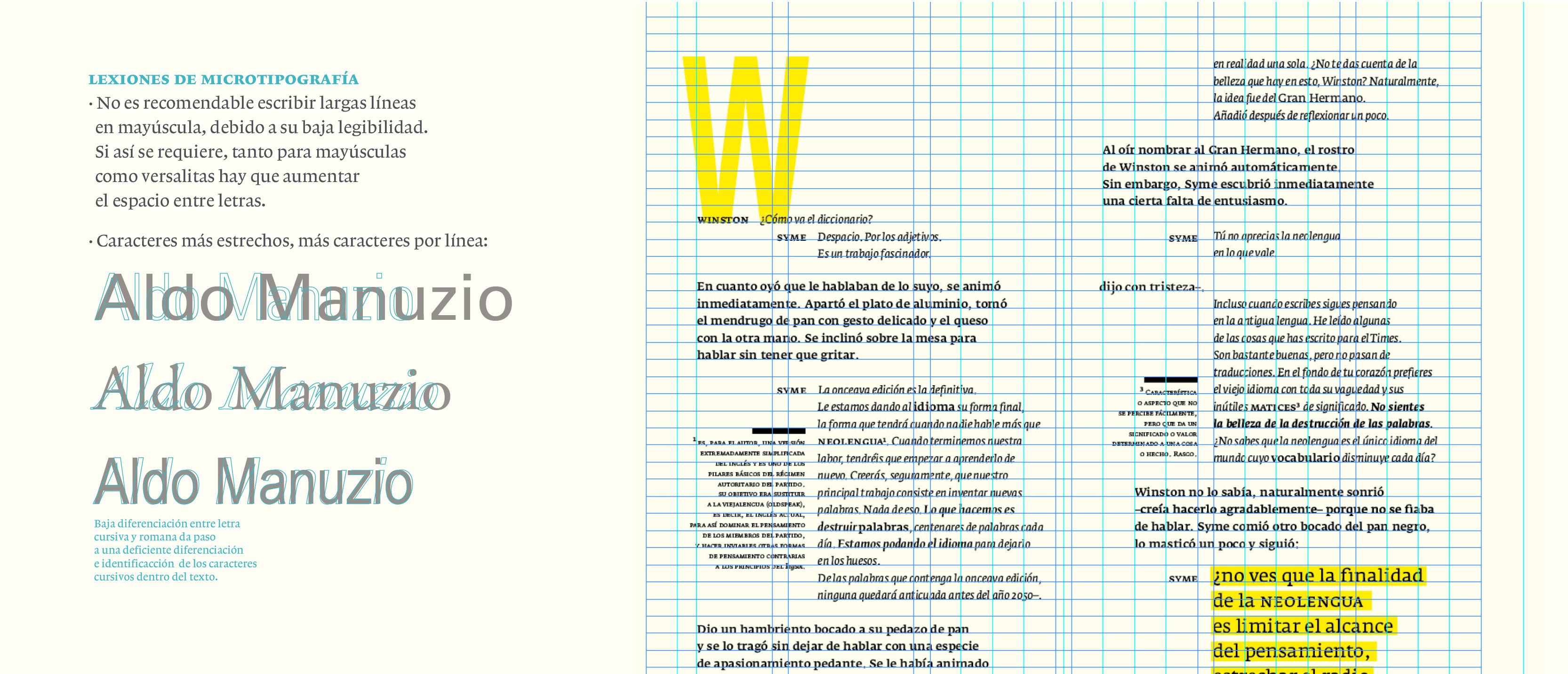 Micro y Macro tipografía