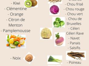 Les fruits et légumes du mois de Février