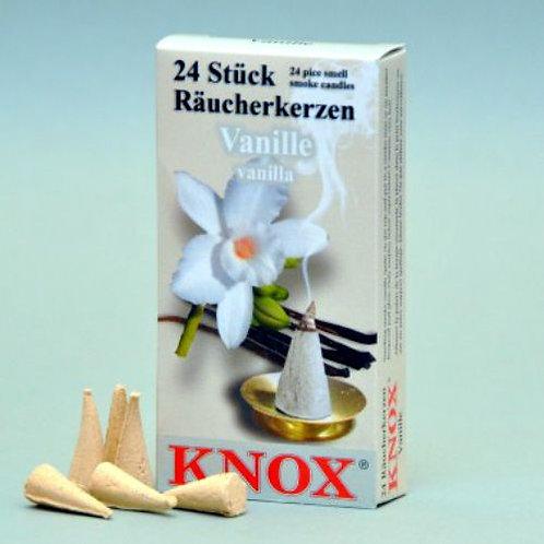 "#013-230 - Famous KNOX Brand ""Vanilla"" Scent Incense Cones - Box of 24"