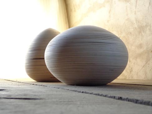Houtgedraaide urnen