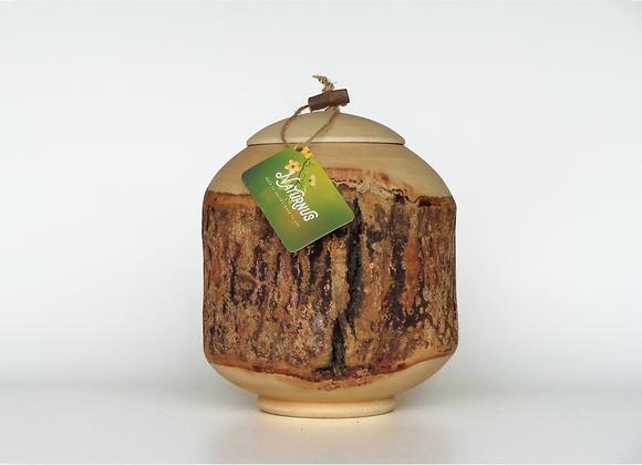 Houten urnen, Unieke urnen van Naturnus. Stronk is een unieke handgemaakte houten urn.