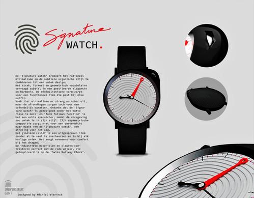 Signature watch design