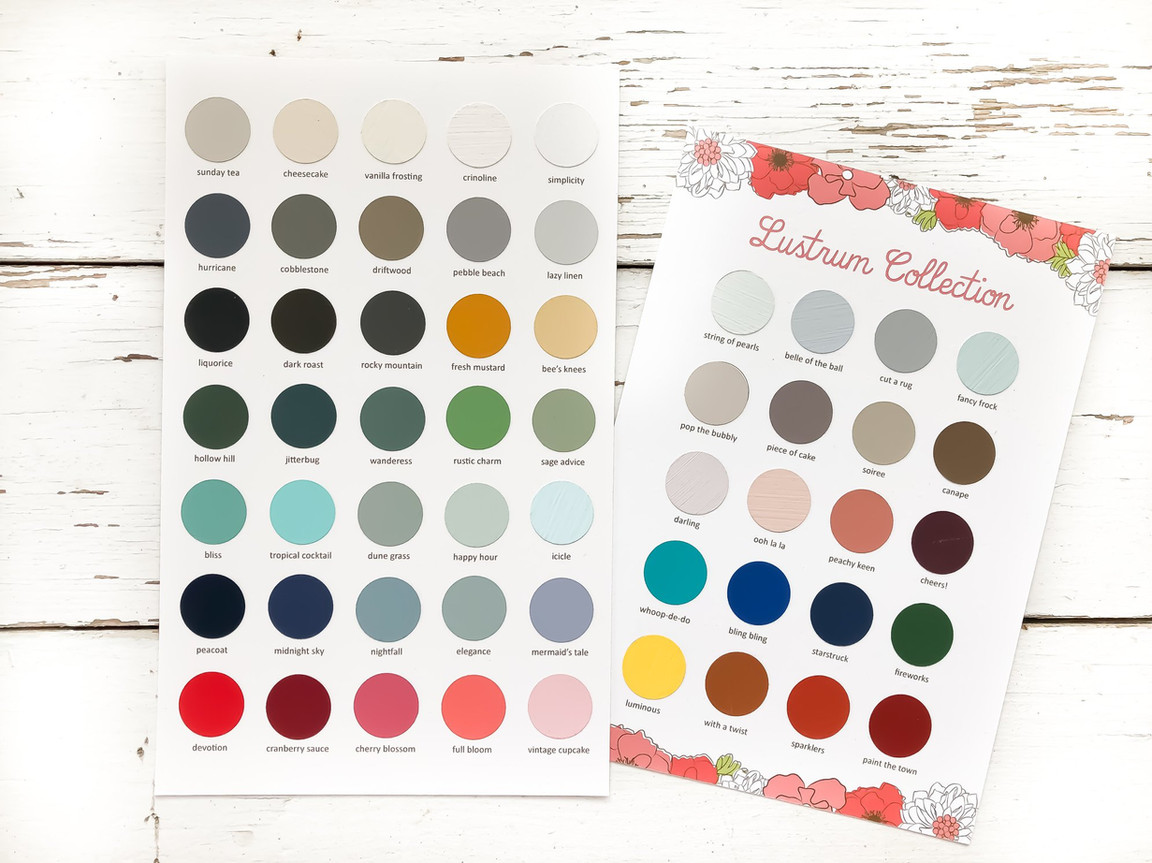 Country Chic Colour Charts