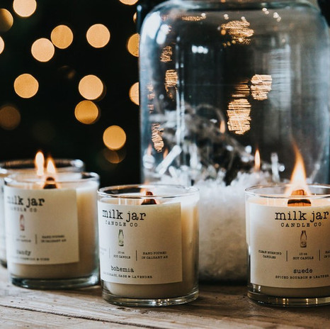 Milk Jar Candles