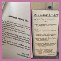 Marriage Advice