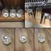 Stemless Wine Glasses & Stoppers