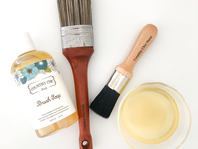 Brush Soap, Oval Paint Brush, and Small