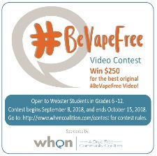 Ad for #BeVapeFree Video Contest