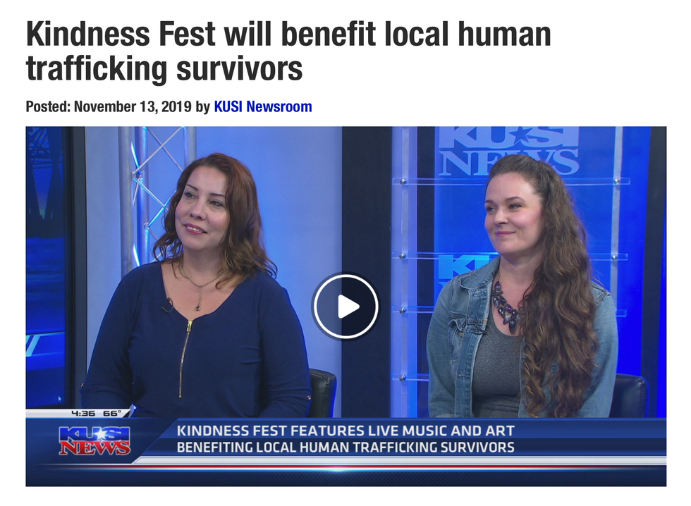 KUSI TV interview about 'Kindness Fest '19'