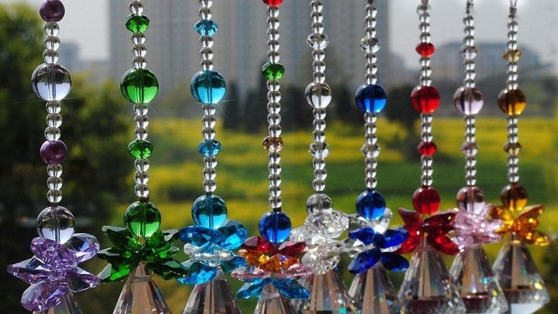 1PCS 30mm 40mm Hanging Crystal Handmade Suncatcher Pendant Window Ornament