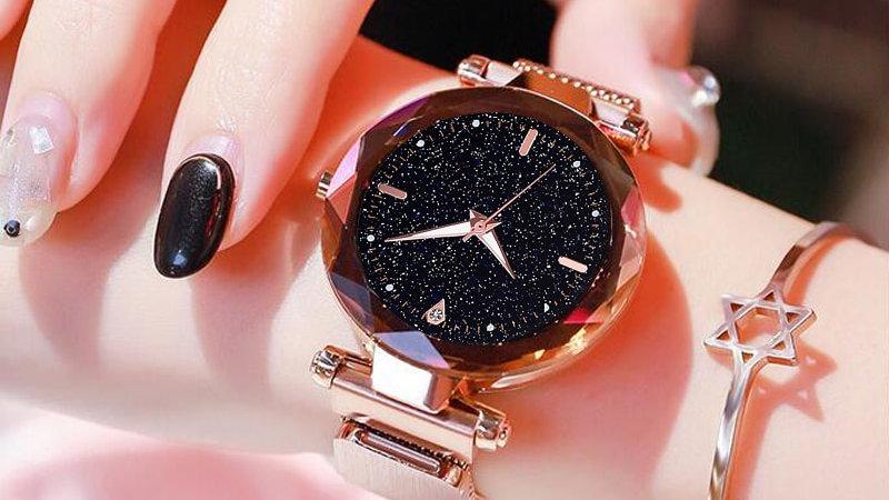 Ladies Watch Starry Sky Magnetic Waterproof