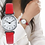 Thumbnail: Leather Band Strap Watch Round Analog Clock Wrist Watches