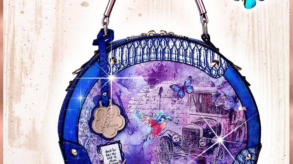 Vintage Darling Sphere Double Zipper Opening Women Purses and Handbags
