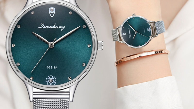 Quartz Clock Fashion Metal Silver Belt