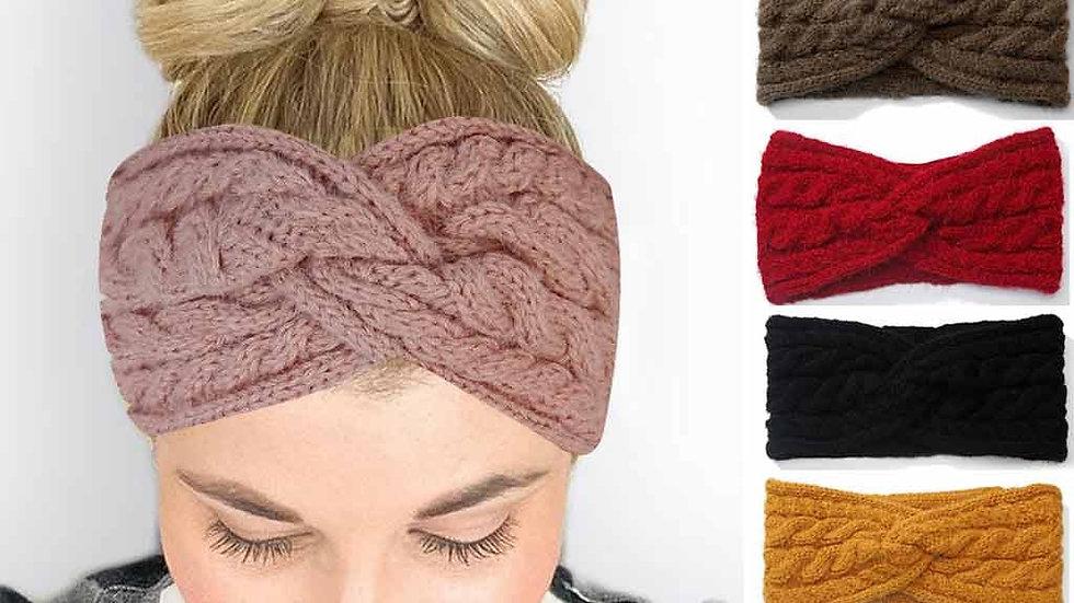 Headband Wool Knitted Elastic