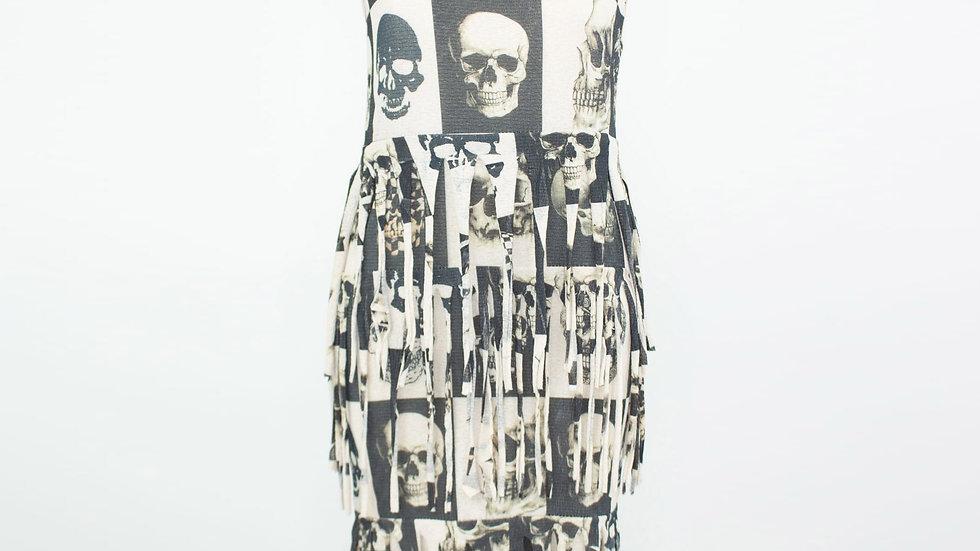 Skull Layered Fringe Tunic Dress