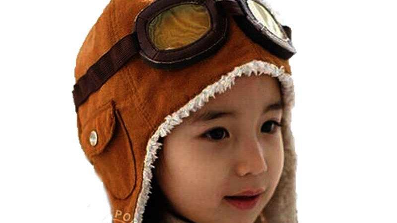 Unisex Bomber Hats Child Pilot Aviator Hat Earmuffs