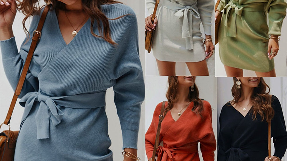 Diiwii Knit Sweater Dress