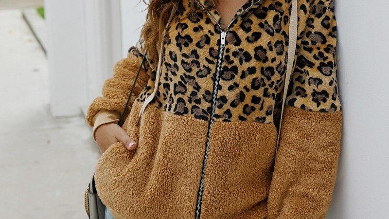 Hooded Leopard Jacket