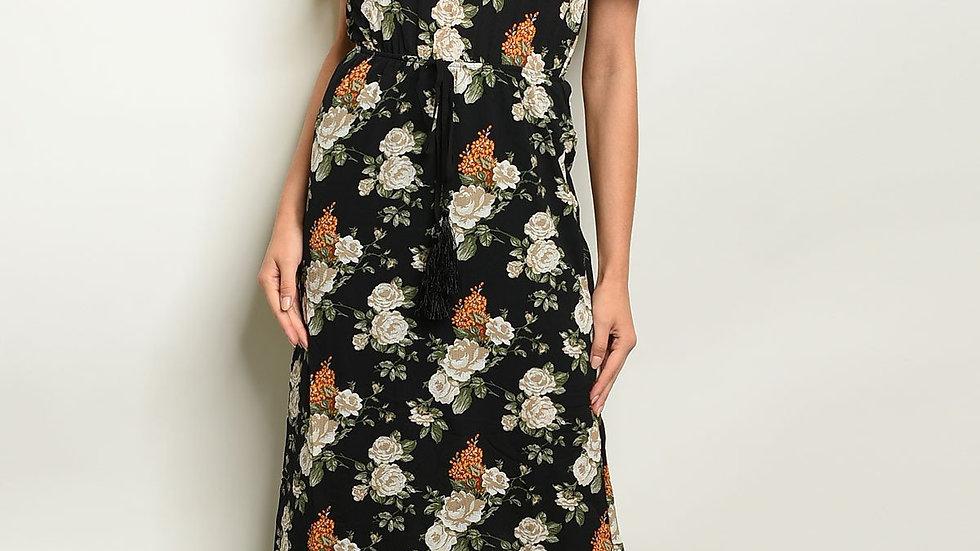 Black Floral Dress