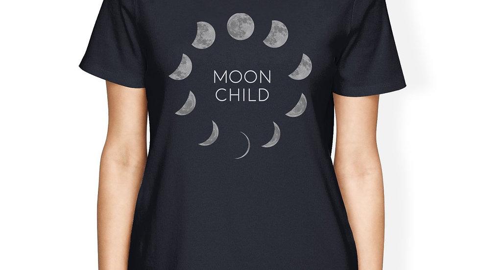 Moon Child Womens Navy Shirt