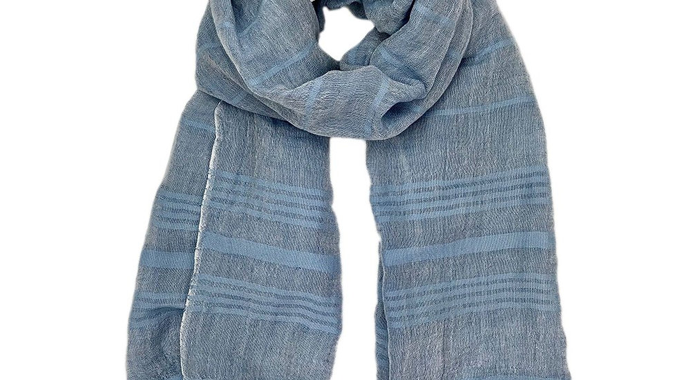 Linen Stripe Turkish Scarf