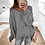 Thumbnail: Loose Panel Knit Top Plus Size Sweater