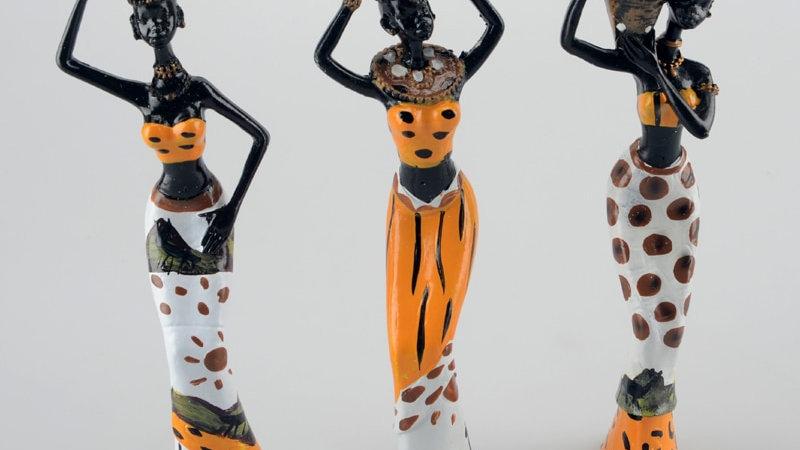 African Woman 3pcs / Lot 6*5*20cm