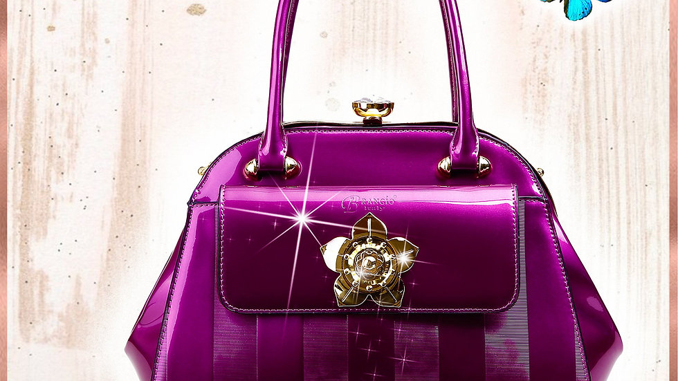 Floral Accent High-End Fashion Purses and Handbags