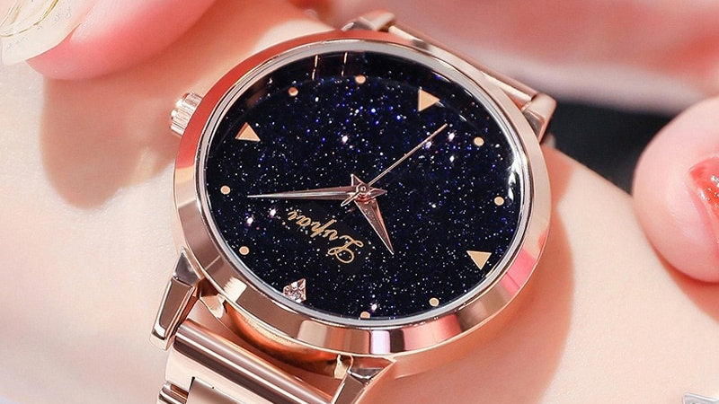 Rose Gold Stainless Steel Lvpai Brand Fashion Ladies Wristwatch