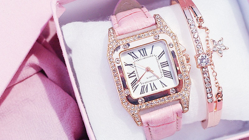Starry Square Dial Bracelet Watches