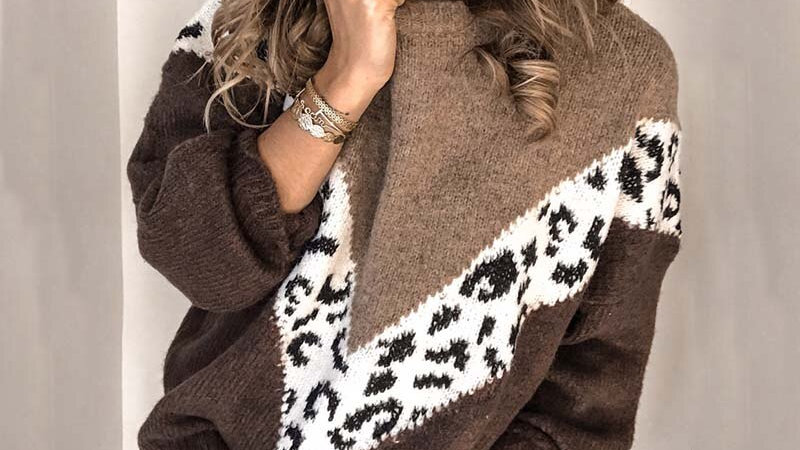 Mohair Leopard Pullover
