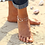 Thumbnail: Double Chain Infinity Pearl Anklet