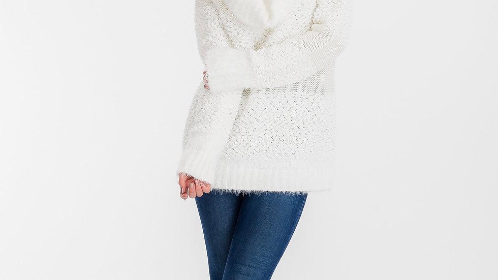 Elizabeth Cowlneck Sweater Offwhite