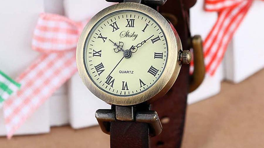 Leather Female Watch ROMA Vintage