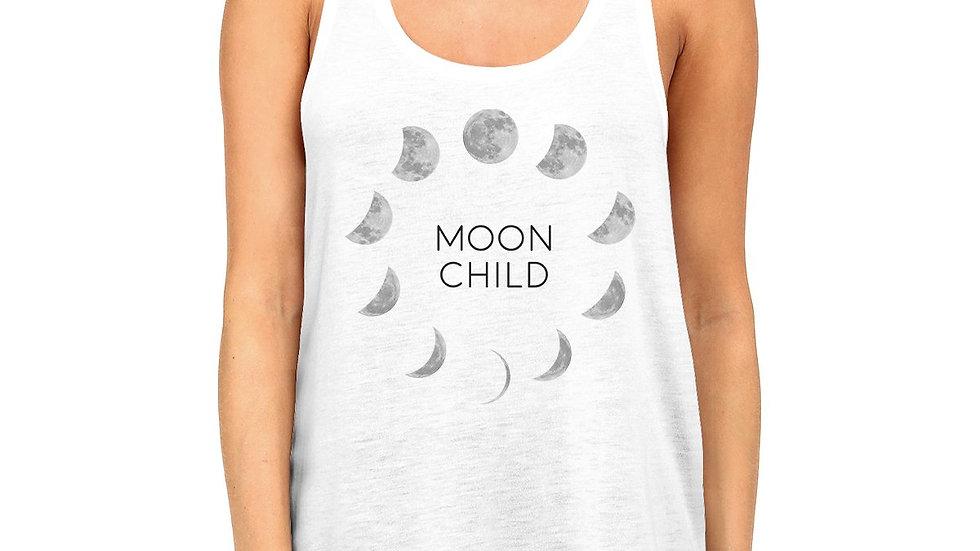 Moon Child Womens White Tank Top