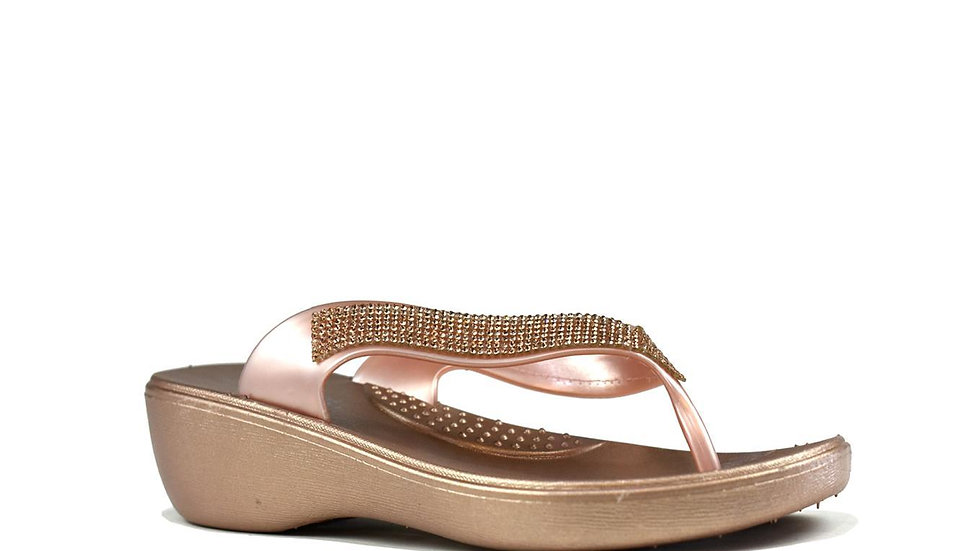 Sturdy Star Flip Flop Rose Gold