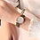Thumbnail: Vintage Small Dial Watch Sweet Leather Strap Outdoor