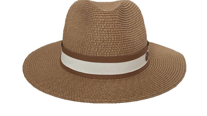 The Spring/Summer Jazz Straw Hat Sun Hat Breathable Hat Street