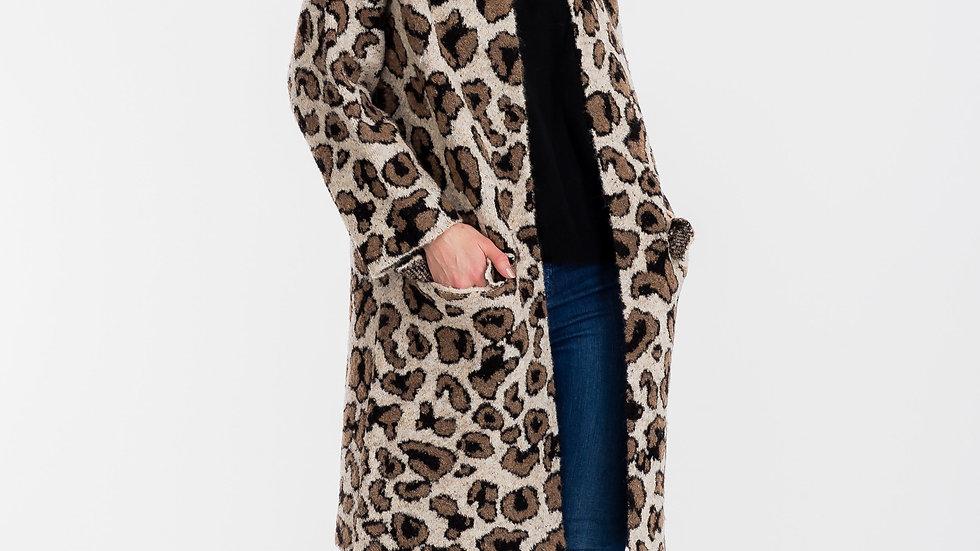 Abbie Long Coat Brown