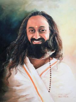 Portrait of Sri Sri Ravi Shankar