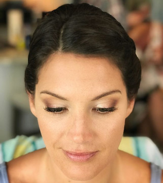 On site wedding hair by Vicky and Makeup