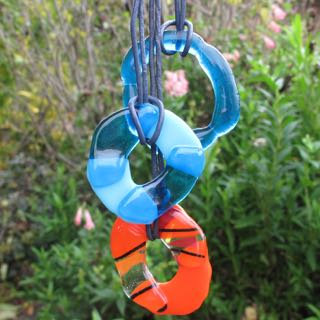 Glass ring pendants