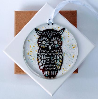 Owl window hanger
