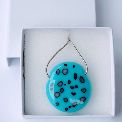 Blue silver speckled pendants