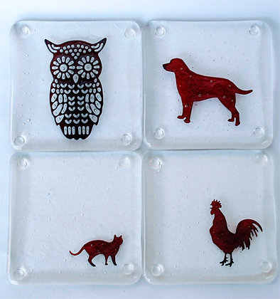 Animal drinks coaster